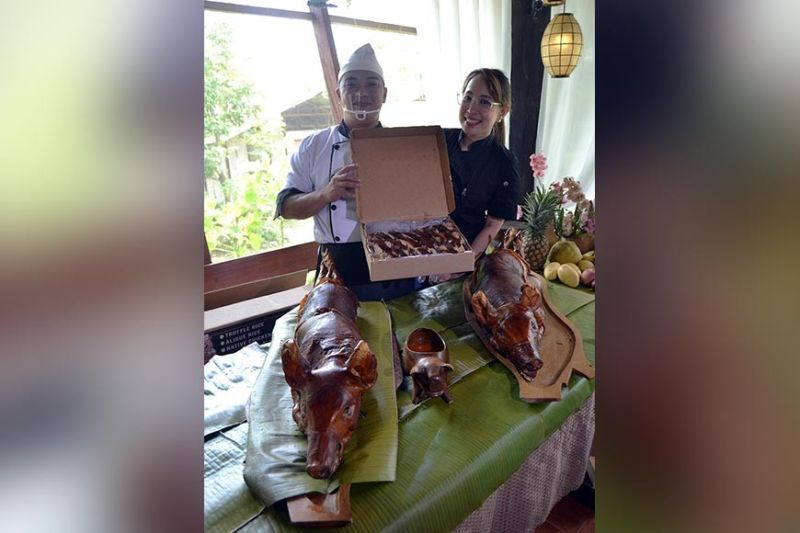 Pollo Porco offers lechon that will tickle the taste buds of the Dabawenyos. Anne Lorraine Domingo-Yap said here in Davao, you would not normally find a lechon house that serves lechon stuffed with truffle or aligue rice. (RJ Lumawag)