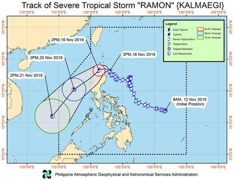 Track of Severe Tropical Storm Ramon (Pagasa)