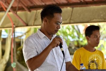 EVERLASTING PEACE. Bangsamoro Sports Commission (BSC) chairman Norhan Uka, during the opening of the Mindanao Sports for Peace Caravan Ate Kuya Leadership Training for student volunteers of Cotabato City State Polytechnic College Monday, November 18, says that there is no barrier in sports. (PSC Mindanao)
