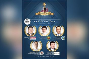 One of the promotional materials of Asia Leaders Awards 2019 that shows the finalists for Man of the Year, that includes Mayor Evelio Leonadia.