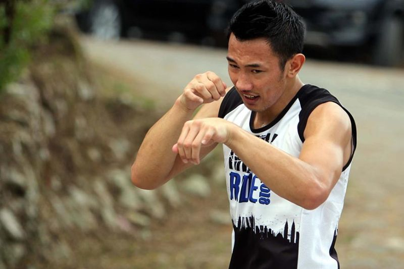 GO FOR GOLD. Jerry Olsim, together with fellow Team Lakay fighters Gina Iniong and Jean Claude Saclag will gun for the gold in the upcoming Southeast Asian Games. (Roderick Osis)