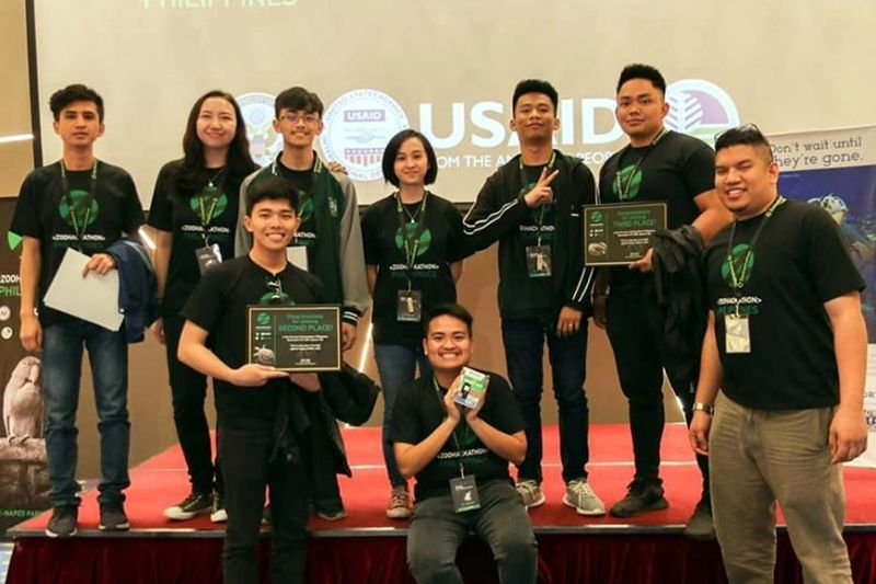 MOBILE APPS FOR WILDLIFE CONSERVATION. Two teams of students from the University of the Cordilleras bagged the second and third spots in the Zoohackathon Philippines 2019. The competition is aimed at developing tech solutions against wildlife trafficking. The UC teams won P150,000. Each to develop their respective projects. (Rene Gardote)