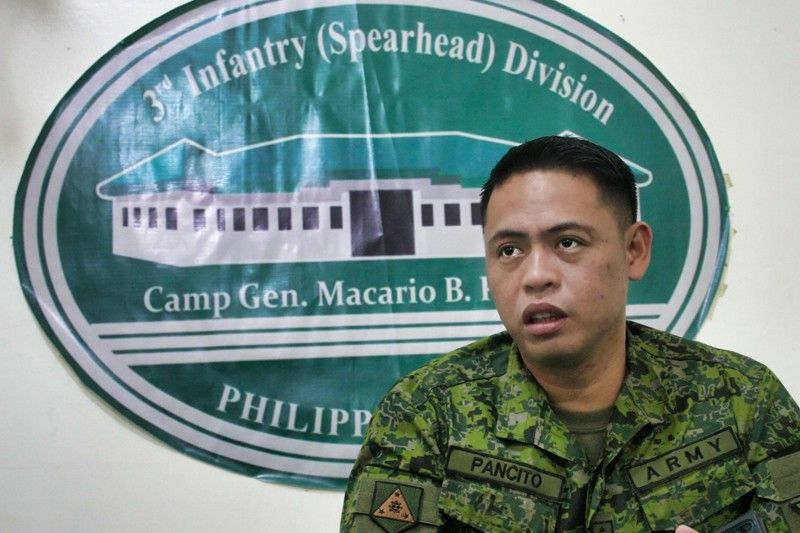 ILOILO. Philippine Army 3rd Infantry Division spokesperson Army Captain Cenon Pancito III said the New People's Army is insignificant already in the community. (Leo Solinap)