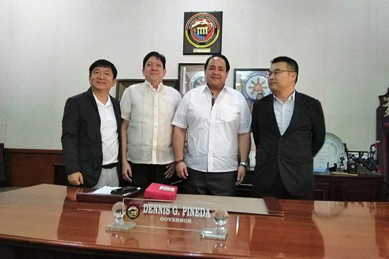 "CITY OF SAN FERNANDO. Governor Dennis ""Delta"" Pineda joins (from left to right) Human Resources Development (HRD) Korea Director Yun Jiwon, Philippine Overseas Employment Administration (POEA) officer-in-charge Virgilio Carreon Jr. and Jongphil Chol. (PR)"
