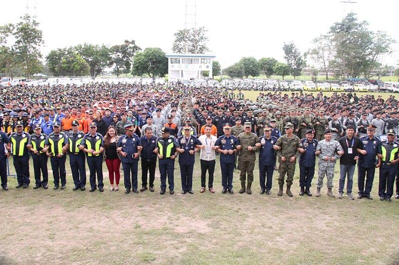 PAMPANGA. Approximately 11,000 uniformed personnel and force multipliers are now deployed to ensure peace and security for events of the 30th Southeast Asian (SEA) Games in Central Luzon. The 30th SEA Games officially opens on November 30 at the 55,000-seater Philippine Arena at Ciudad de Victoria in Bocaue, Bulacan. (Photo courtesy of the Police Regional Office-Central Luzon)