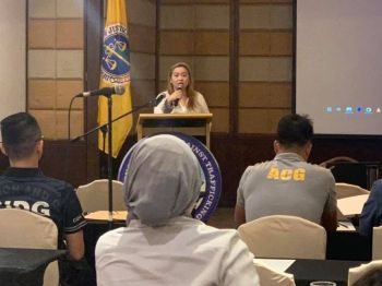DAVAO. Davao Regional Prosecutor and Iacat-Davao Chair lawyer Janet Grace Fabrero giving her opening remarks during The Basic Extensive Online Sexual Exploitation of Children Training for Investigators. (Photo from Dangya Dalisay Facebook page)