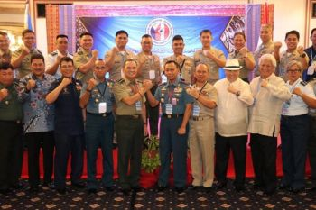ZAMBOANGA. Members of the 38th Republic of the Philippines-Republic of Indonesia Border Committee Chairmen's Conference pose for posterity photo during the start of the conference Tuesday, November 19, 2019, in Davao City. The activity ends Thursday, November 21. (Contributed Photo)