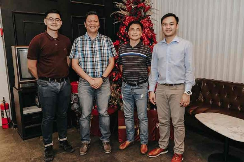 GUESTS. LifeRisks' president and vice president join guests (L-R) Coach Ronnel Golimlim of Widus Foundation and Dr. Wendell Cabrera of DepEd Regional Office. (Contributed photo)