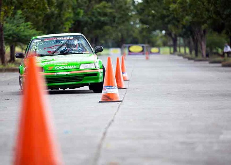 LAGUNA. Iñigo Anton negotiates with ease the course during the 7th round of the 2019 Philippine Autocross Championship Series in Sta. Rosa, Laguna en route to claiming the overall title. (Photo by Nickey Jones Bautista)