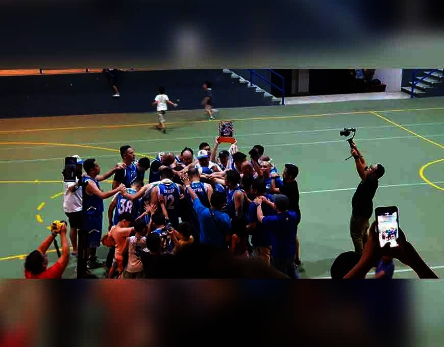 CAGAYAN DE ORO. Gamba 97ers celebrate after ending their 10-year title drought in the 10th Xavier University High School (XUHS) ABL division 1 finals via 2-0 sweep of Xavier United, over the weekend, at Xavier Estates covered courts, Cagayan de Oro City. (Supplied Photo)