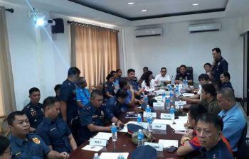 GIPANGANDAMAN: Ang mga representante sa telephone companies, Cebu City Police Office (CCPO) ug mga opisyal sa Sinulog Foundation Inc. atol sa Nobiyembre 21, 2019 nga tigom sa ilang pagpangandam sa seguridad sa Sinulog 2020. (Arnold Y. Bustamante)