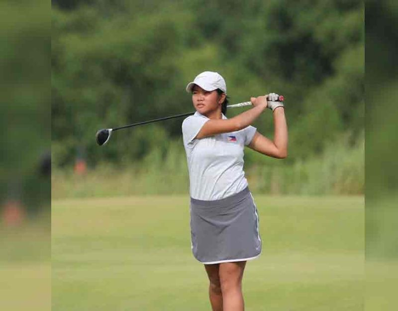 Promising golfer Junia Gabasa has signed on to join the Texas State Bobcats in the US NCAA. (Photo courtesy of Junia Gabasa's Facebook page)