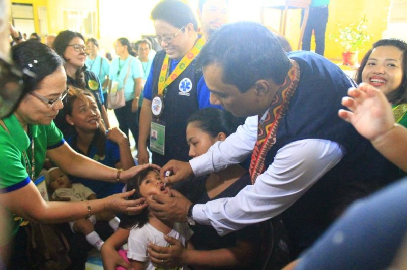 The Department of Health, together with the World Health Organization and the Cagayan de Oro City Government, kicked off the Sabayang Patak Kontra Polio Monday morning, November 25, at the Gusa Covered Court, Barangay Gusa, this city. (Jo Ann Sablad)