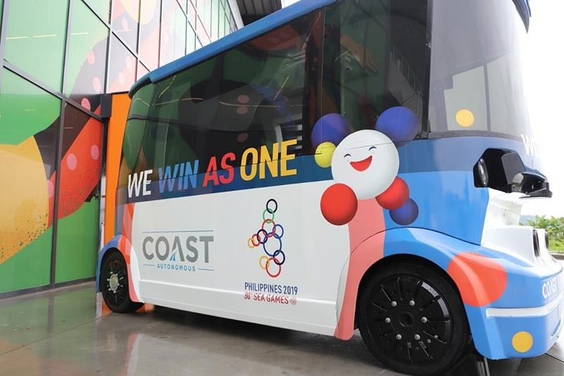 SUBIC. Coast Autonomous' driverless shuttle recently arrived in New Clark City. The shuttle will provide transportation service within the New Clark City sports complex during the 30th South East Asian (SEA) Games. (Contributed photo)