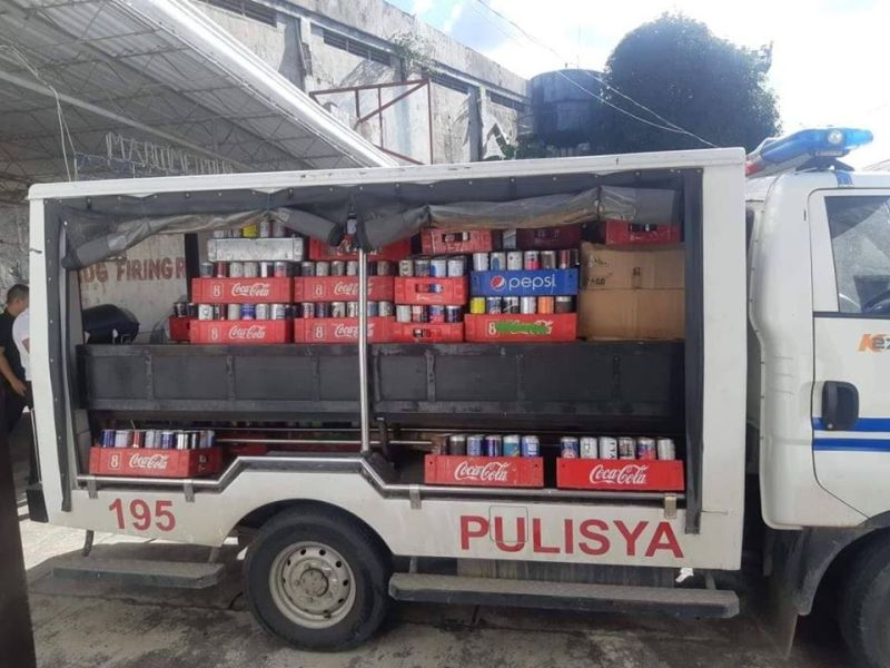 LEYTE. The alleged liquefied petroleum gas-refilled butane canisters confiscated by CIDG operatives during a buy-bust operation in Tacloban City, November 25, that resulted in the arrest of one Chinese businessman and his store helper. (Photo courtesy of CIDG-Eastern Visayas)