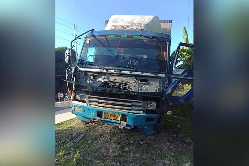 MISAMIS ORIENTAL. A wing van and a passenger bus figured in a road accident in Libertad, Misamis Oriental on Tuesday, November 26. A motorcycle driver tailing the bus and a pedestrian who crossed the highway died as a result of the crash. (Photo from MisOr-PPO)