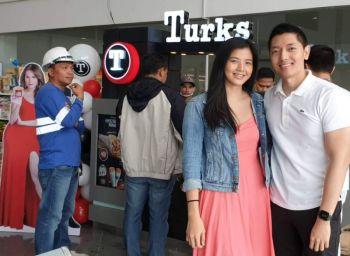 Young entrepreneurs Wilson Noel Au and fiancée Ella Sitchon at their newest enterprise - Turks (Shawarma) at Simplicio Palanca seaport terminal, Reclamation Area, Bacolod City.