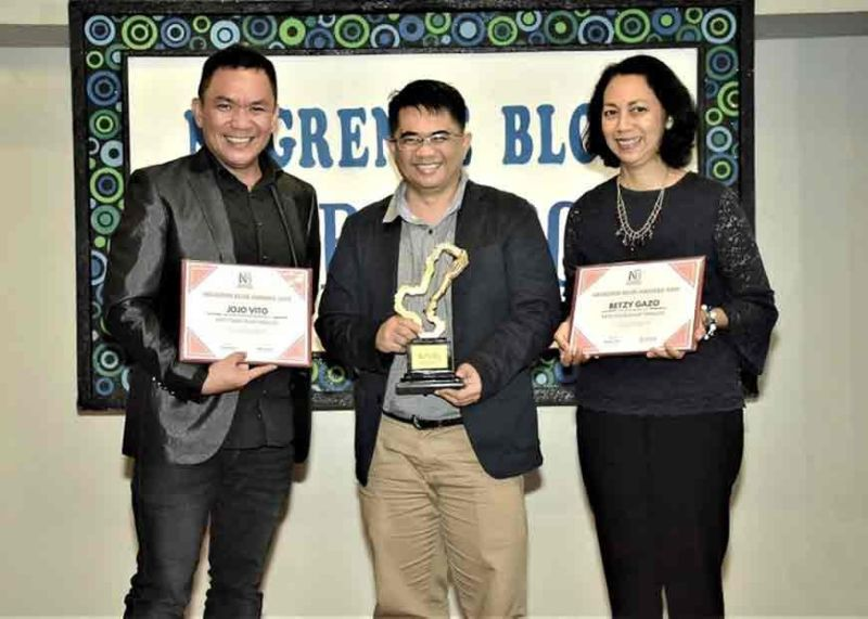 BACOLOD. Best Food Blog is Eduardo Joven for Pinoy Recipe at Iba Pa (www.pinoyrecipe.net) with finalist Jojo Vito and Betsy Gazo.