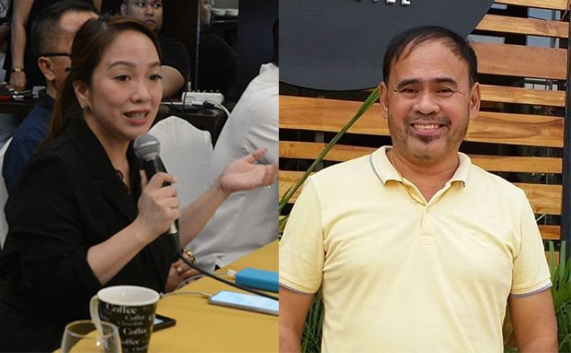 CEBU. Cebu City Councilor Nina Mabatid and Engr. Lorenzo Basamot. (SunStar File/Photo from Basamot's Facebook account)