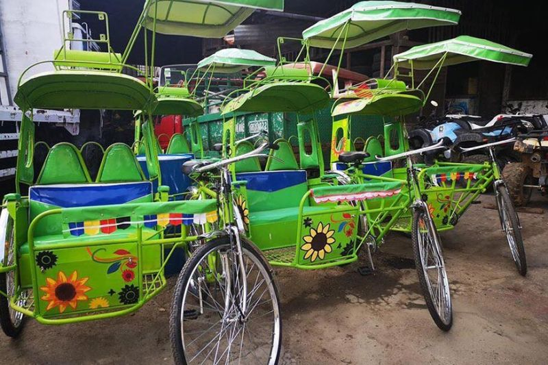 These pedicabs offer an eco-friendly local transport service within the city proper of San Carlos, a second-time recipient of the