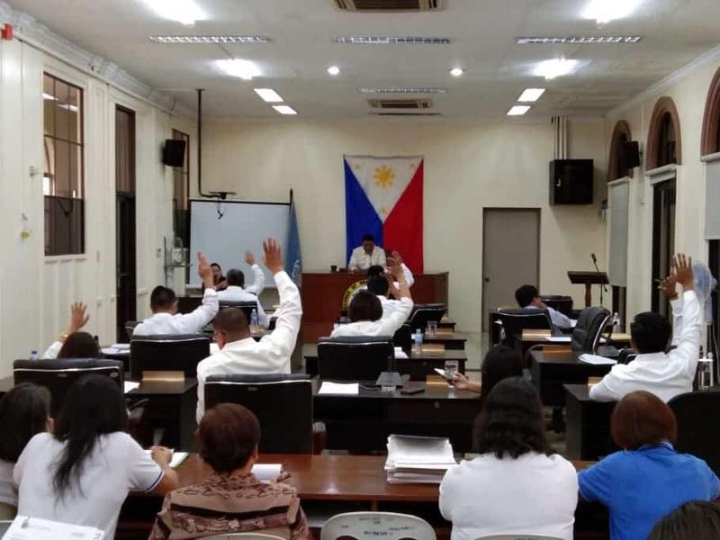 BACOLOD. The Provincial Board of Negros Occidental unanimously approves the P4.2 billion annual budget of the province during the special session Wednesday, November 27, 2019. (Prime Tejida)
