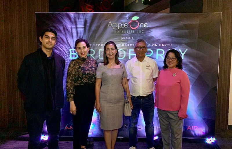 AppleOne Properties group marketing manager Javier Marcalain, AppleOne Properties assistant vice president Ria Ledesma, AppleOne Properties senior vice president Barbara Cabo, Philippine Eagle Foundation director Dennis Salvador and AppleOne Properties group HR manager Tonette Cejudo. (Photo by Monica R. Lopez)
