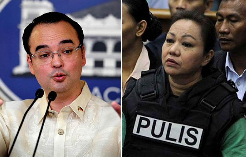 MANILA. House Speaker Alan Peter Cayetano and Janet Napoles. (SunStar File)