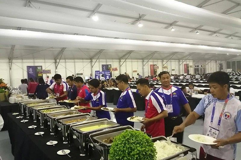 TARLAC. A wide selection of halal food being served at the buffet for delegates of the 30th Southeast Asian (SEA) Games at the Athletes' Village main dining hall. (Photo courtesy of Sonny Wagdos)