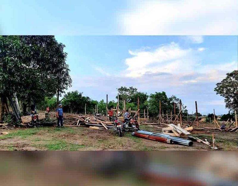MAGSAYSAY. Usa sa mga relocation site nga mahimo nang kabalhinan sa mga molupyo sa Barangay Malawanit, Magsaysay, Davao del Sur. (Orlando B. Dinoy)