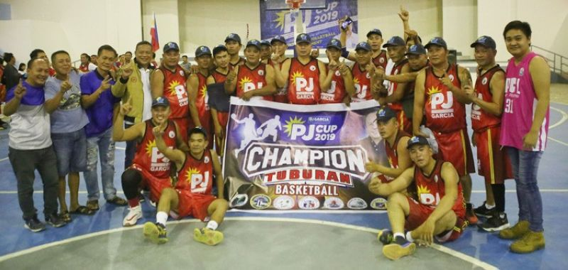 Players from Tuburan celebrate their win in the finals over Balamban. (Contributed foto)