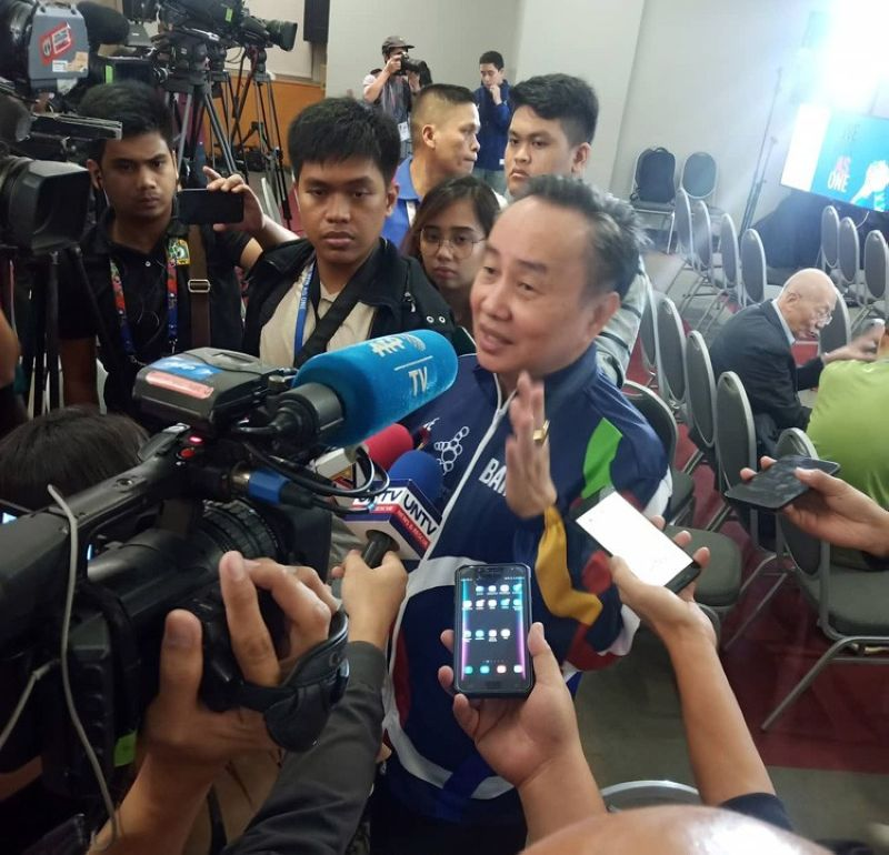 Philippine Olympic Committee president Bambol Tolentino assures athletes that they have placed contingency plans in case Typhoon Tisoy affects the 30th SEA Games. (SunStar foto/Richiel S. Chavez)