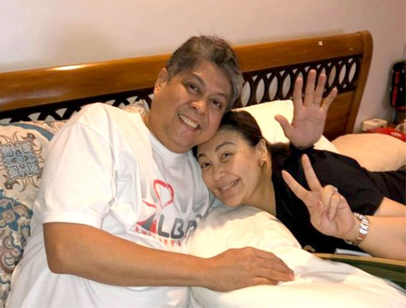 Photo of Senator Kiko Pangilinan and Sharon Cuneta posted after President Rodrigo Duterte's statement. (Photo from @kikopangilinan's Twitter account)