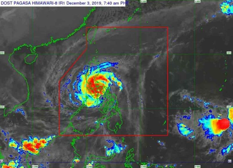 Satellite images from PAGASA