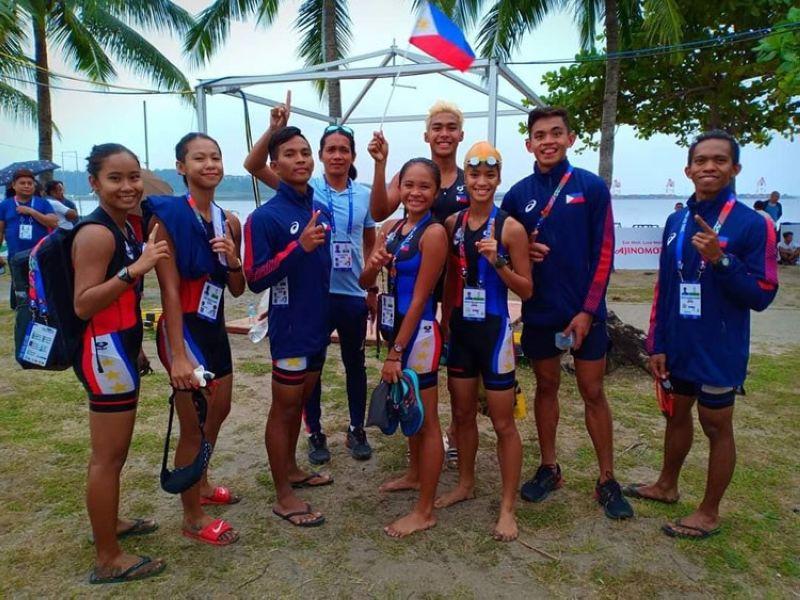 PENTATHLON TEAM: Ang Philippine Pentathlon team nga gilangkuban sa mga taga Ormoc City andam na kaayo sa ilang duwa karong Huwebes, Disyembre 5, 2019. (John Kevin D. Pilapil)