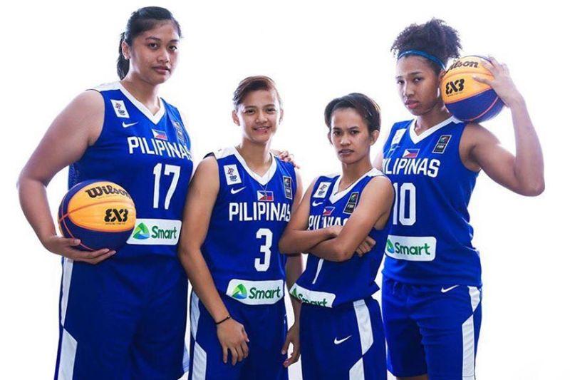 Ang Gilas Pilipinas Women's Team nga naka-gold medal sa Basketball 3X3. (Team Philippines)