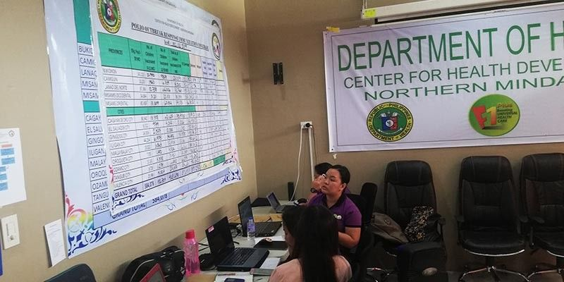 CAGAYAN DE ORO. The operation center of the Department of Health in Northern Mindanao which monitors the mass immunization campaign against polio. (Photo by PJ Orias)