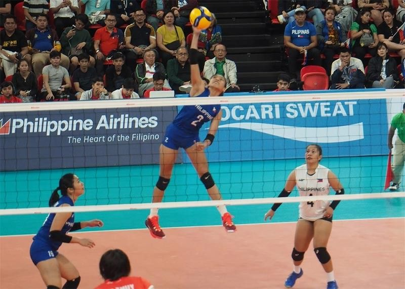 HEARTBREAKING START. Still, the Filipina spikers are optimistic to improve their fourth-place finish in Kuala Lumpur in this year's Manila hosting of the 30th Southeast Asian Games. (Contributed Photo/Christian Maningo)