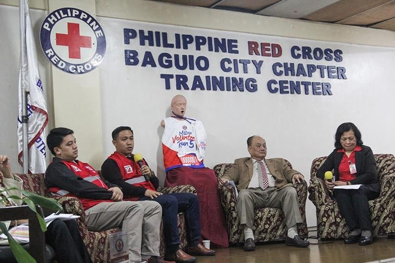 BAGUIO. In a press conference Tuesday morning, councilor Vladimir Cayabas (2nd from left) urge the public to join Red Cross Philippines Million Volunteer Run 5 for a cause on December 8 starting at Lake Drive Burnham Park. Among the panelists are Ryan Mangusan (extreme left), Red Cross Baguio City Chapter Chairman, Erdolfo Balajadia (2nd from right) and Anastasia Tamayo (extreme right), PRC Baguio Chapter administrator. (Photo by Jean Nicole Cortes)