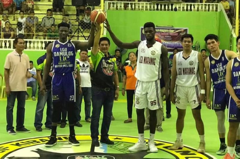 SWU-Phinma, representing LGU Maramag, emerged with a win over LGU Damulog during the opening game of the 1st Mayor's Cup Invitational Basketball of Kibawe. (Foto courtesy of the Kibawe municipal government)