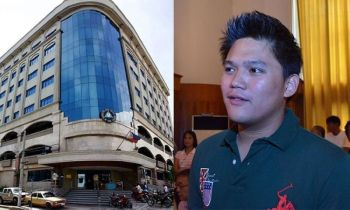 CEBU. Facade of the Metropolitan Cebu Water District (MCWD) building (left) and Talisay City Mayor Gerald Anthony