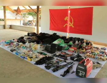 ZAMBOANGA. Troops captured on Wednesday, December 4, a New People's Army hideout in the village of Durian, Las Nieves, Agusan del Norte and recovered high-powered firearms, computers, a generator set, backpacks, food supplies, medicines, subversive documents, and other personal belongings. (Contributed photo)  onerror=