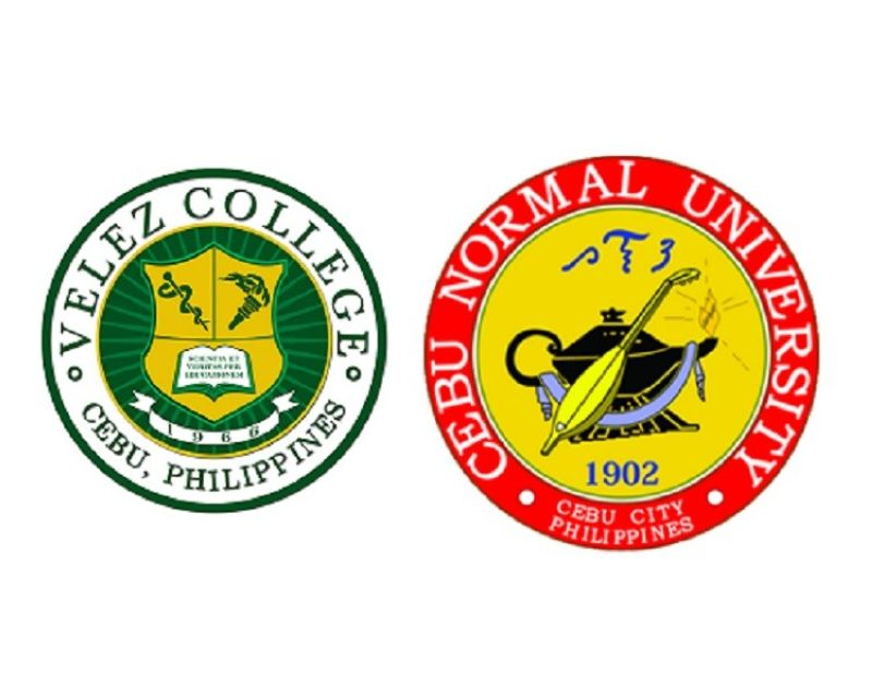 Velez College and Cebu Normal University logos