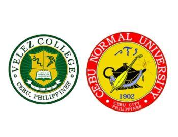 Velez College and Cebu Normal University logos