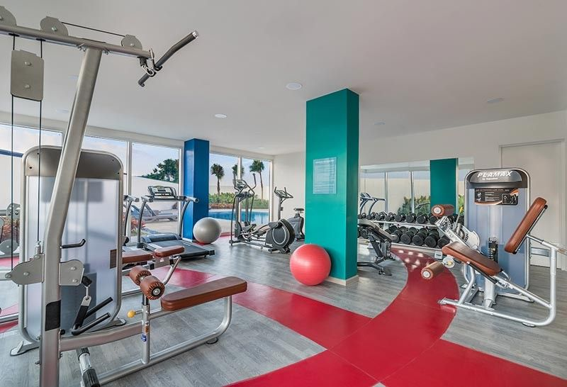 Park Inn By Radisson Clark's vibrant gym.