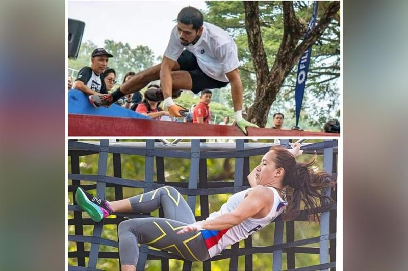 IN ACTION. Dabawenyos Nathaniel Aban Sanchez and Klymille Keilah Rodriguez compete for Team Philippines during the 30th Southeast Asian (SEA) Games mixed team relay 400Mx12 obstacle course at Filinvest City, Alabang. (Contributed photo)