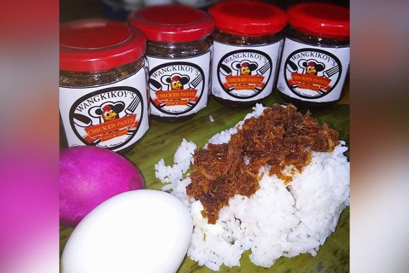 Wangkikoy's Chicken Pastil on rice. (Photo from Wangkikoy's Chicken Pastil Facebook Page)