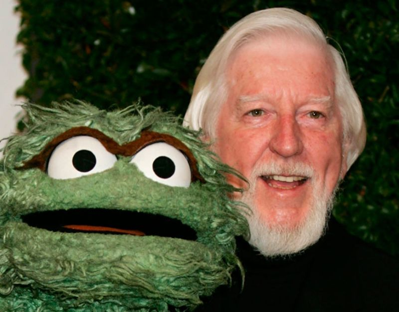 LOS ANGELES. In this April 27, 2006, file photo, Caroll Spinney (right), who portrays