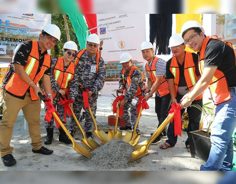 PAMPANGA. The International Police Commission with Katuwang Foundation through Ambassador to United Nations General Glennbert Lazo broke ground for three four-story, 16-classroom school buildings in Tarlac and Pampanga last Monday. (Photo courtesy of Deng Pangilinan)