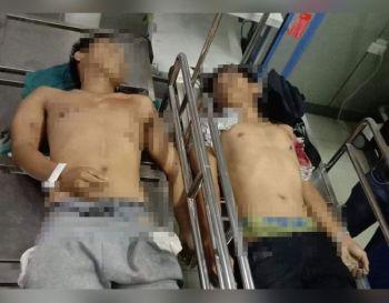 DAVAO. Wala nay kinabuhi ang duha ka giingong mga notadong pusher nga taga Marawi City kinsa misukol sa kapulisan atol sa drug bust sa Sta. Ana Police Station niadtong Martes. (Hulagway gipaambit sa Davao City Police Office)