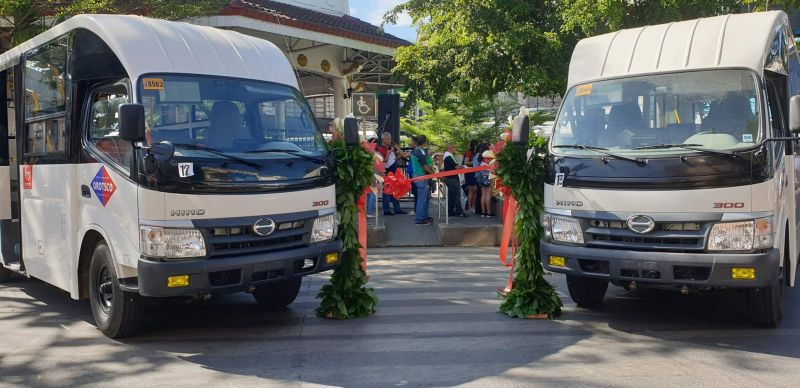 CAGAYAN DE ORO. The Oro Transport Service Cooperative (Orotsco) on Tuesday, December 10, introduced its 15 modern jeepneys, the first modern transportation in the region since the government launched the public utility vehicle modernization program. (Photo by Kris Sialana/Superbalita)